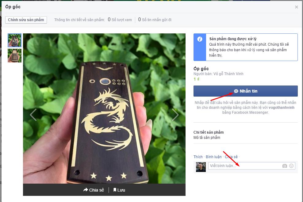 Facebook Cửa hàng - Dịch vụ 4