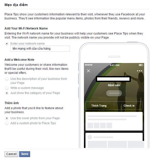 Facebook Place Tips Wifi Marketing miễn phí và hơn thế nữa 3